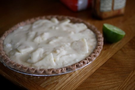 pear pie ready to bake