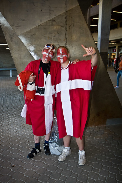 Dejected Danish fans
