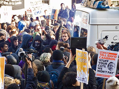 London students protest against fees and cuts, 24 November 2010