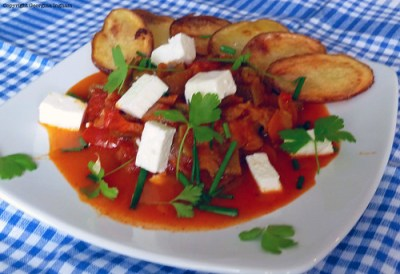 Greek Vegetable Stew with Feta