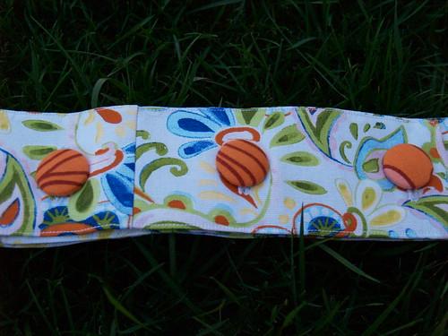 Paisley belt closeup