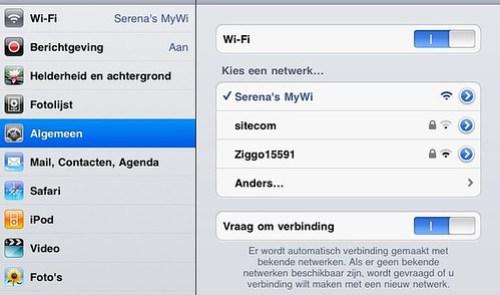 Netwerken iPad