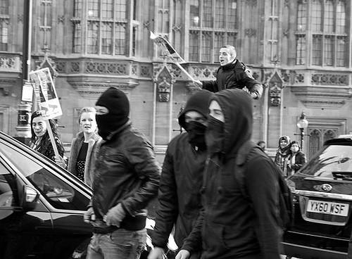 Agitators, London students protest against fees and cuts, 24 November 2010