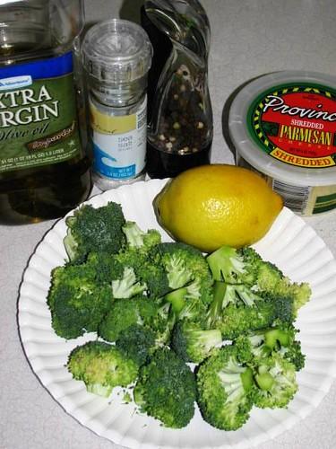 Grilled Brccolli with Lemon & Parmesan