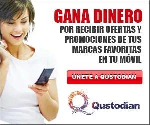 Gana dinero con tu teléfono móvil con Qustodian