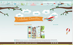 new website design at calobee doodles!
