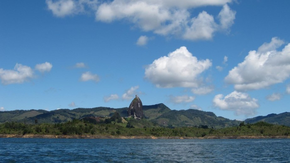 View of El Penol from the lake.