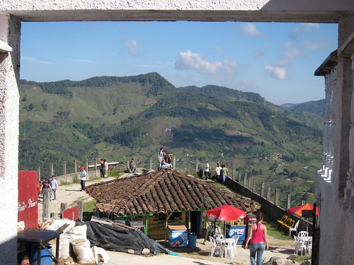Atop El Penol are several small tiendas where visitors can rest and enjoy the views with a drink or ice cream.
