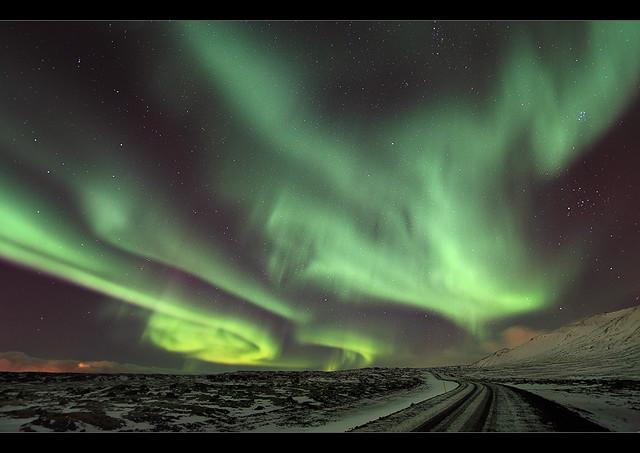 Aurora Chaos - Northern Lights at Bláfjöll, Iceland