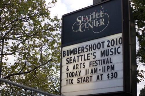 Bumbershoot 2010 Welcome Sign