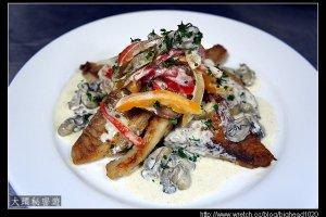 [西餐]魚類   乾煎紅魚佐鮮蠔醬