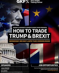 Today at 17.30 we have an amazing Academic Event: HOW TO TRADE TRUMP & BREXIT ✨ The event is about finance and the company that will come is called GKFX, its an online brokerage firm and they are offering job opportunities for students!! #london