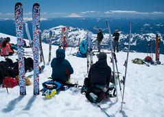 Skiing the volcanoes. Camp Muir