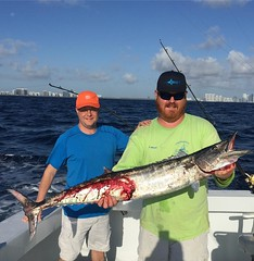 Capt. Manny & Capt. Billy catch another nice Wahoo !! #deepseafishingmiami #Spellbound