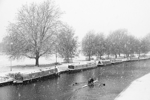 Midsummer Common in the snow