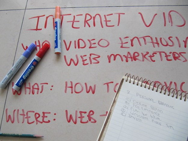 Internet Marketing Plan with red markers