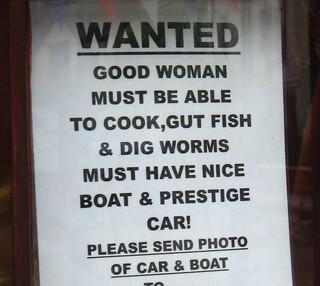 Sign in Polperro shop window