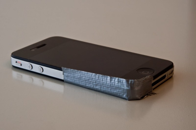 iPhone 4 - where form meets function. And duct tape.
