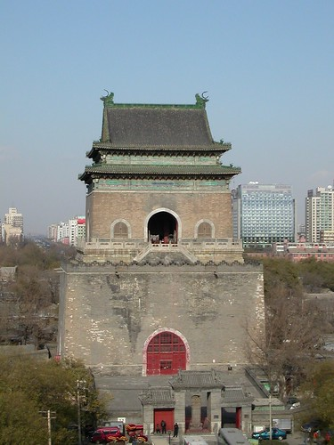 Bell Tower as seen from the Drum Tower in Beijing 2005