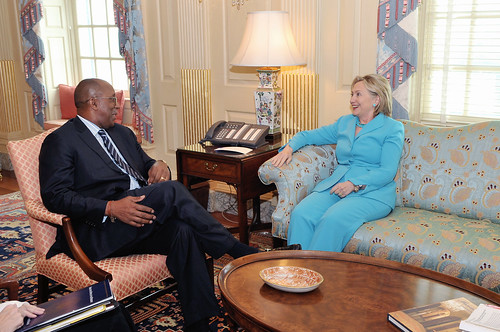 Secretary Clinton Meets With U.S. Trade Representative Ron Kirk