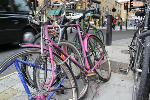 Abandoned bikes in Camden London