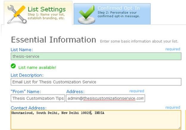 Email list building, Aweber List set up Shoutmeloud