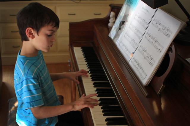 boy, playing piano