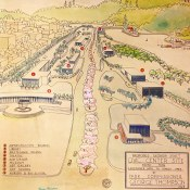 Proposed Georgia Street Civic Centre site viewed for Vancouver Hotel to Stanley Park by Park Commissioner George Thompson,1945. (COV Archives - VPK-S98)