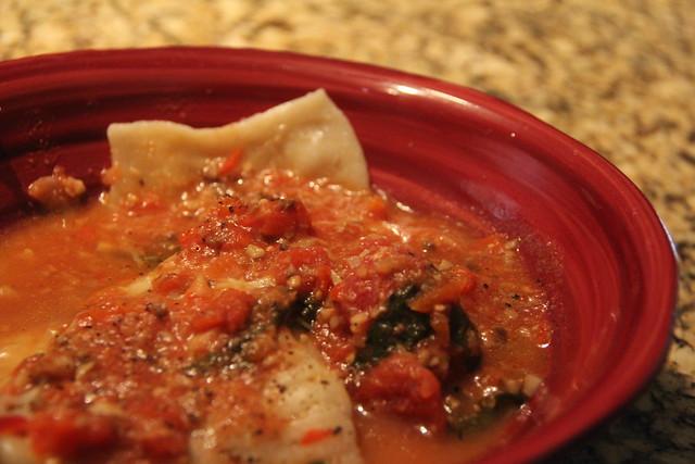 Homemade pasta -- ravioli flop