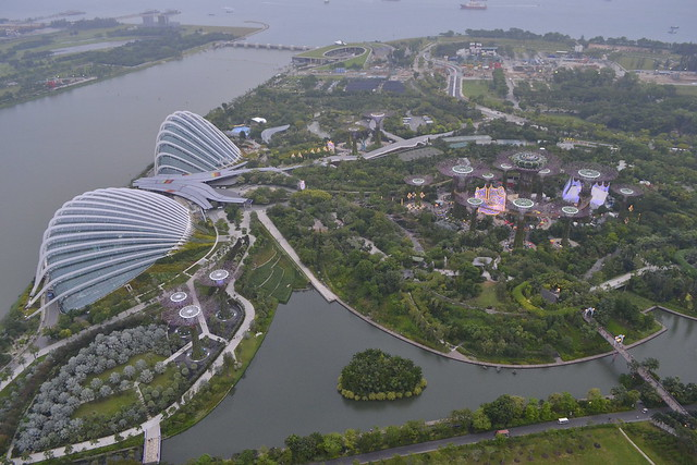 Write About Singapore _ Gardens by the Bay from the Marina Bay Sands