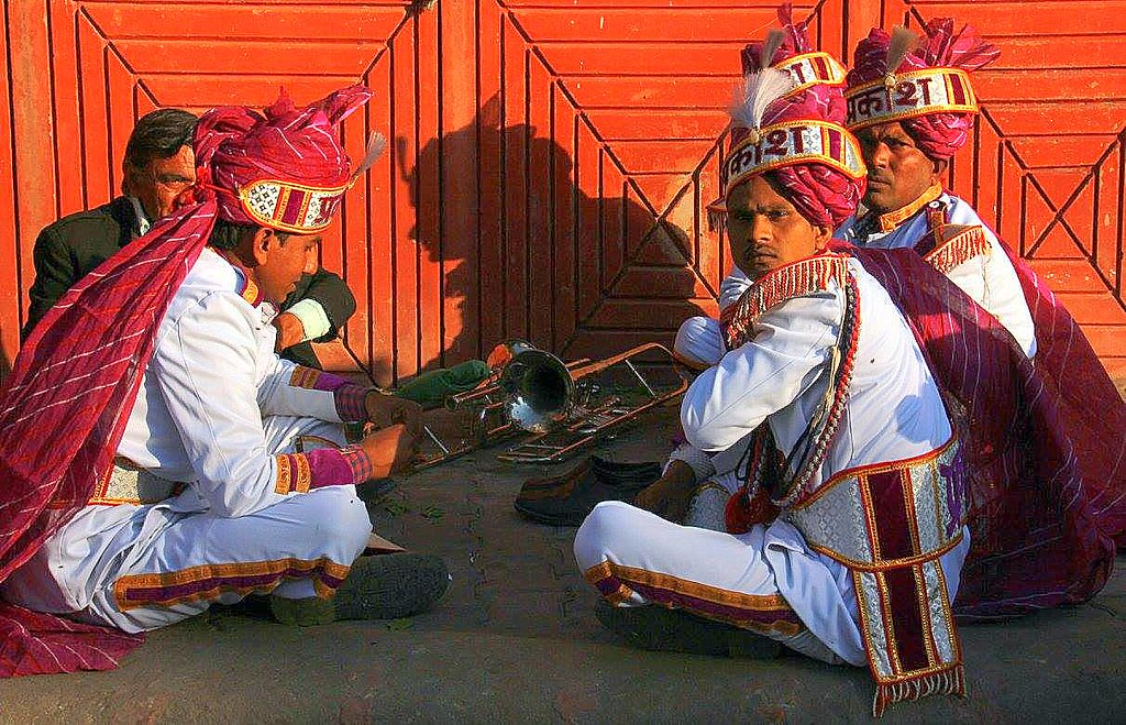 Band masters resting in Jaipur