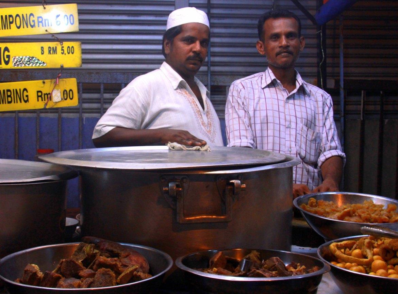 Street food vendors in Ramadan bazaar in Kuala Lumpur