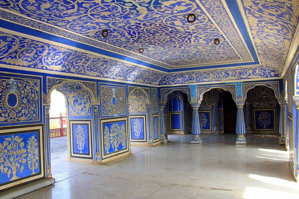 The Blue Room inside City Palace Jaipur