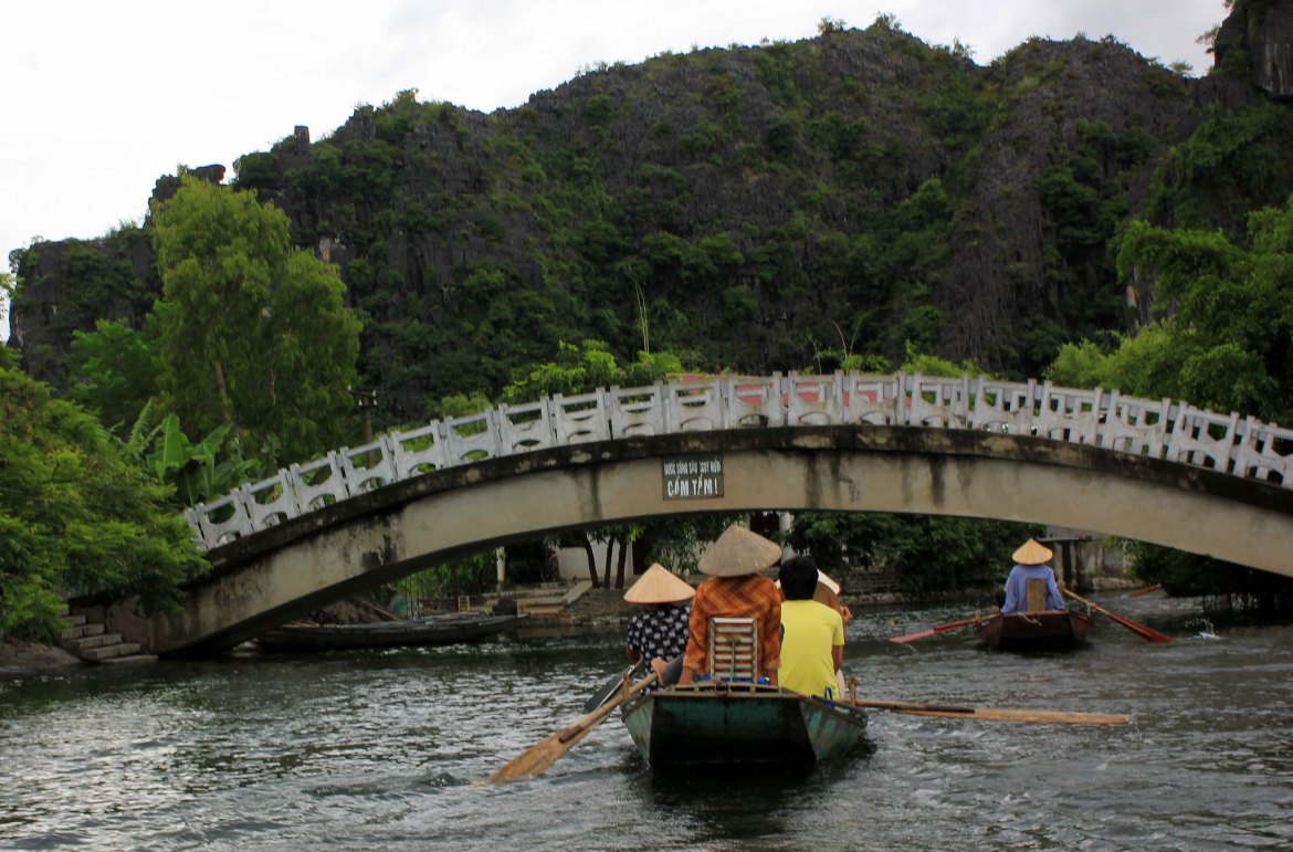 Boat rides in Tam Coc are one of the ways to experience the natural beauty
