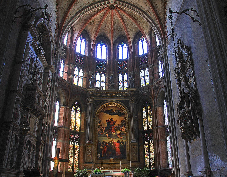 Church interiors in Venice