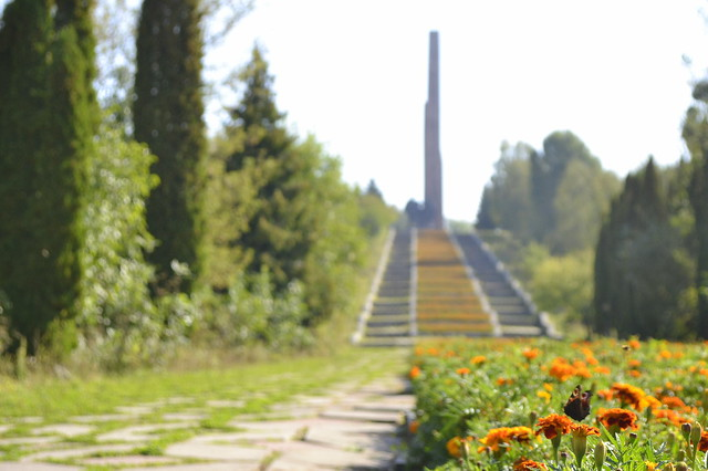 Visit Rivne, Ukraine _ Marigolds and a Soviet Memorial