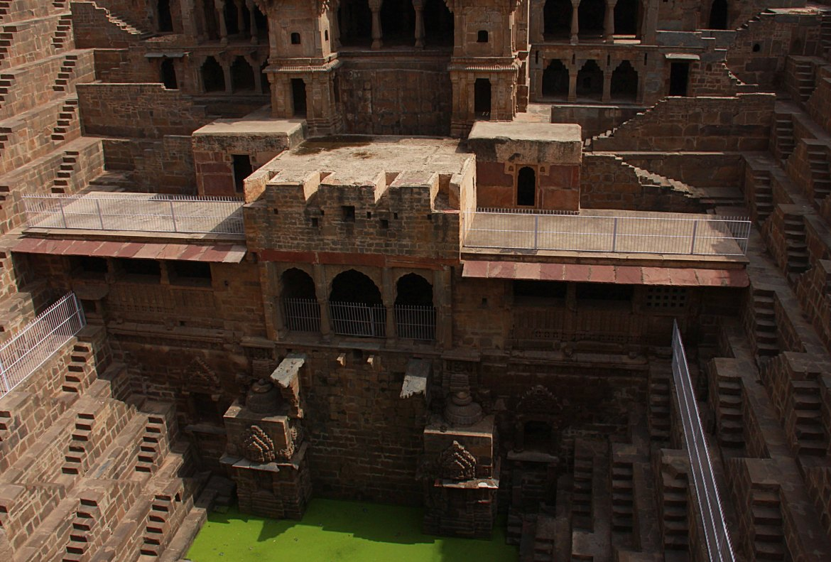 Abhaneri stepwell water is no longer usable.