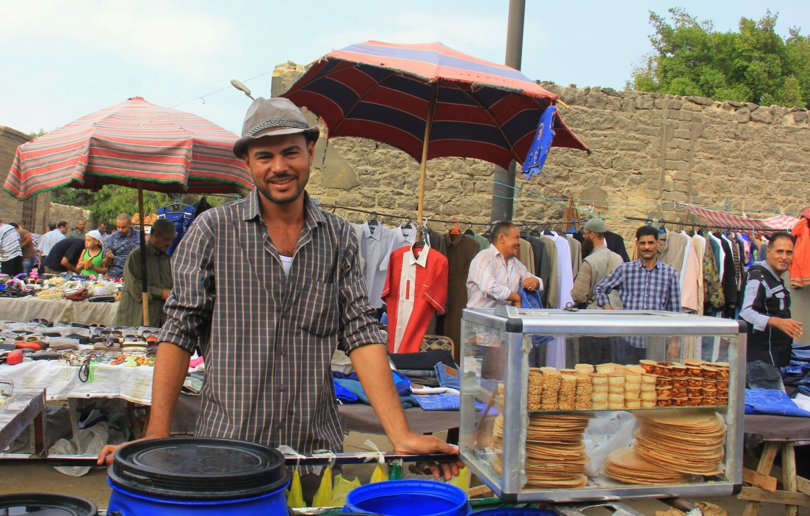 Food for sale at local markets in Egypt