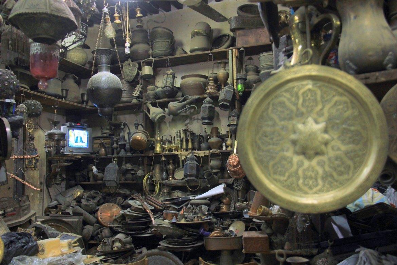 An antique shop much popularised by khan el khalili guide