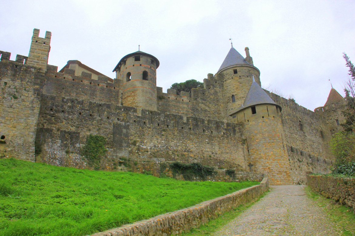 Walk up to the Carcassonne Old Town