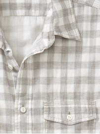 gray gingham shirt Gap