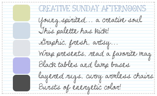 Creative Sunday Afternoons Palette