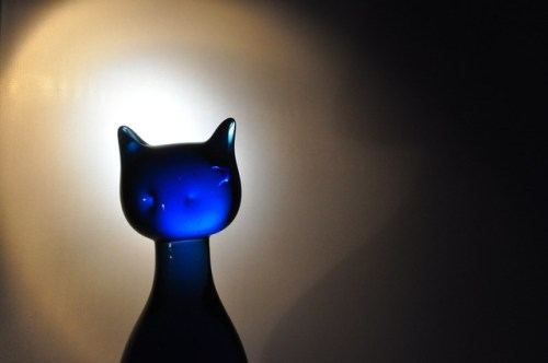 Blue Glass Cat