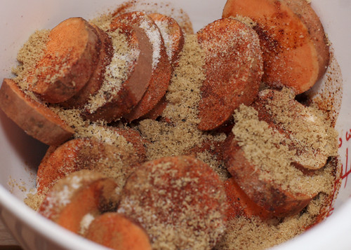 Sweet Potatoes with Spices