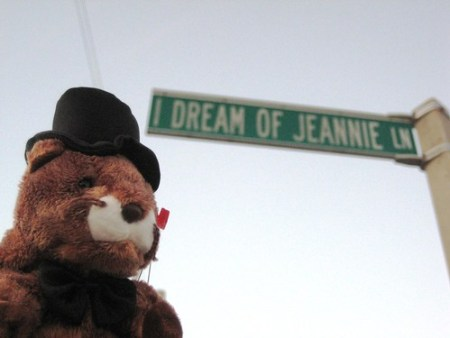 Beanie Baby Groundhog at I Dream of Jeannie Lane, Cocoa Beach, Fla.