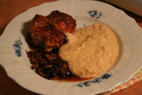 Chicken, cauliflower alfredo