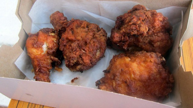 dark meat box at leroy's fried chicken