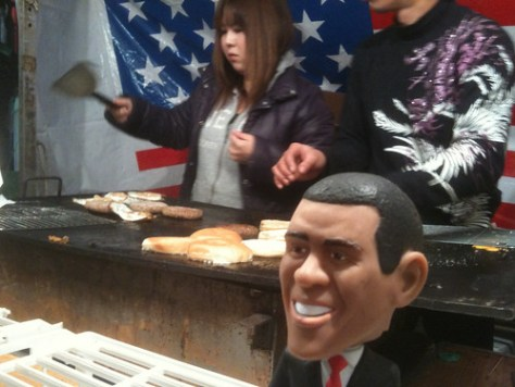 New Year's Burgers with Obama