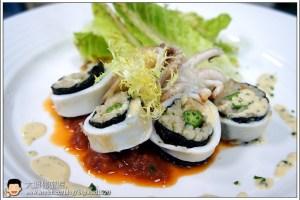 [西餐]海鮮類 烤鮮茄鑲中卷