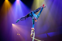 Blue Acrobat at OVO! by Cirque de Soleil in Houston